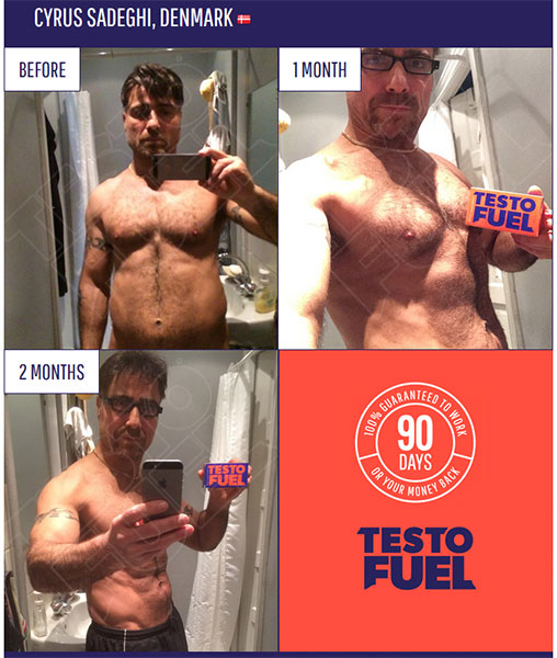 Cyrus's results from using TestoFuel