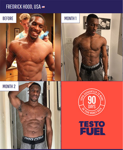 Fredrick's results from TestoFuel