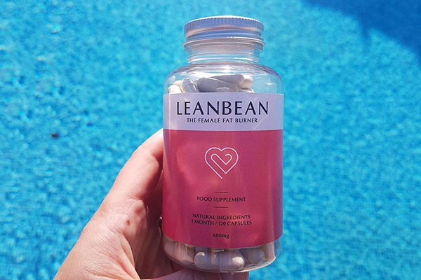 Bottle of LeanBean by a pool