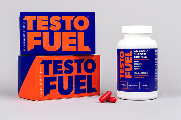 a bottle of TestoFuel with 2 boxes