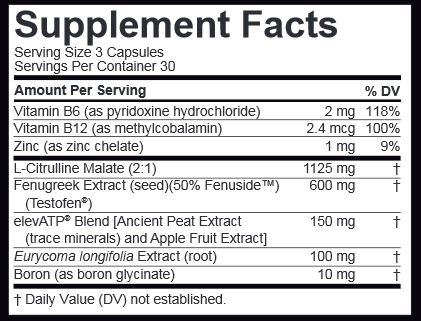 Nugenix TOTAL-T Ingredients